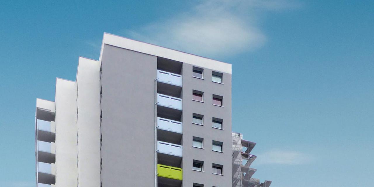 Energetische Sanierung eines Hochhaus